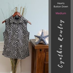 Cynthia Rowley | Sleeveless Hearts Button Down